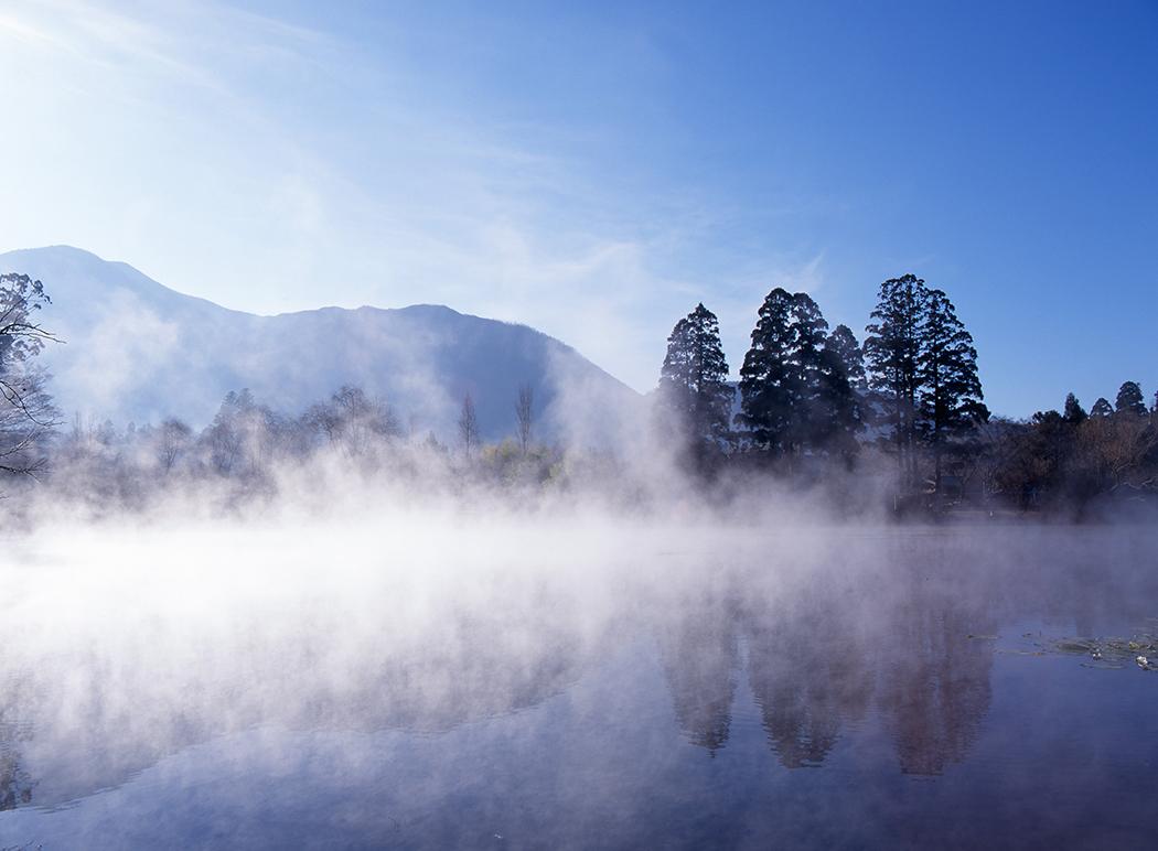 金鱗湖の朝霧