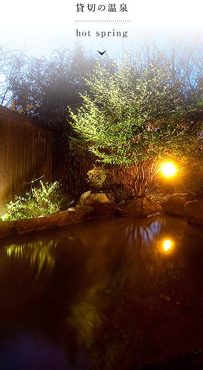 貸切の温泉 hot spring